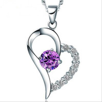 JLN sei l'unico nel mio cuore Argento 925 Sterling Silver AAA Collana Cubic Zircon Heart Necklace con catena Twisted per le donne