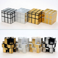 Wholesale Special Shape - 2017 new style 3*3*3 Drawing mirror, Rubik's cube, special-shaped Magic Cube Gears Rotate Puzzle Sticker Adults Child's Educational Toy Cube