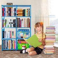 Wholesale Other Storage - Homestyle Bookcase 4 Shelf Storage Bookshelf Furniture Adjustable Folding Book Shelving Portable Book Case