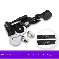 Wholesale Manual Engraving Machines - Dymo manual labeling machine m-1011 M-11 metal embossing batch number industrial belt engraving typewriter