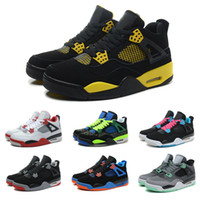 Wholesale Dan Black - Drop Shipping Wholesale Basketball Shoes Men Retro 4 Dan IV Sneakers Boots Authentic Discount Outdoor Hot Sale Sports Shoes Size 7-12
