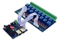 interruptores de voltaje controlado al por mayor-Regulador al por mayor 16CH del interruptor de retransmisión dmx512, salida de retransmisión, control de retransmisión de DMX, interruptor de retransmisión 16way (máximo 10A), luces llevadas de alto voltaje