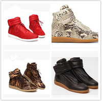 Wholesale Martin Clear - 2017 New Designer Cheap Sneaker High Top Casual Genuine Leather Casual Maison Martin Margiela High Quality Men Shoes Mens