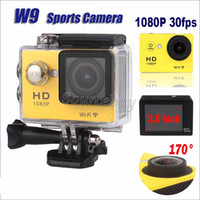 W9 Sport telecamere impermeabile 30M WiFi HD 1080P 30fps 2inch 170 ° grandangolare del casco Action Cameras HDMI Video dell'automobile DVR