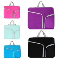 "Wholesale Wholesale Document Pouch - Luxury Zipper Liner Sleeve Bag Cover Case For ALL Laptop 11'' 13"" 15"" 11inch 13 inch 15 inch Macbook Air Document handbag Accessory Pouch"