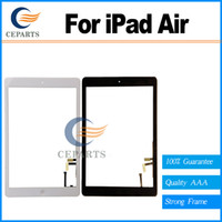 Wholesale Ipad Lcd Wholesale - Touch Screen Glass Digitizer Replacement+ Adhesive Glue Tape 3M with Home Button for iPad Air 5 with tools Black&white