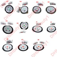 Wholesale Eyelash Extension Lash Individual - Best Seller 3D Magnetic False Eyelashes Extension Magnetic Eyelashes Makeup Soft Hair Magnetic Fake Eyelashes with retail packaging