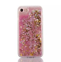 Quicksand Dynamic Liquid TPU Мягкий чехол для Iphone6 ​​6plus 7 7plus Песочный блеск Star Bling Diamond Stone Cover Skin