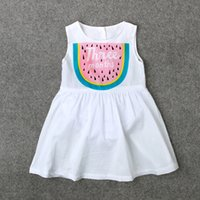 Wholesale Suits Dress Jumper - Ins New Summer Baby Infants Cotton Dresses Rompers Girls Toddlers Sleeveless White Skirts Jumpsuits Jumpers Children Kids Triangles Suits