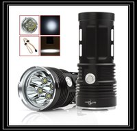Wholesale Brightest Led Driving Lights - Black 9x XML T6 Brightest Torch Waterproof LED 5-Mode Outdoor Flash Lamp Lighting for Hunting Camping LEF_039