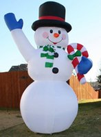 Wholesale Christmas Snowman Inflatables - free shipping 2.4m H festive inflatable Christmas gifts Christmas snowman inflatable doll for Christmas decoration