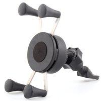 benutze telefon gps großhandel-Motorrad-Handy-Halterung - Heavy-Duty-Side-Spiegel-Lenker-Cradle-Halter für jedes Smartphone GPS - für sichere Telefon-Verwendung während auf dem Ro