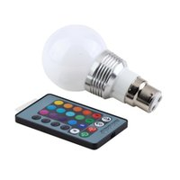Wholesale Search Light Remote Controlled - High Quality 1pcs 3W B22 16 Colors RGB LED Light Lamp Bulb W  Remote Control 85-240V Hot Search