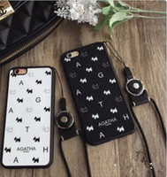 Wholesale Cases Phone5 - Popular logo shows pink dog TPU with hang rope phone5 5 s case 6 s shell plus mobile phone sets