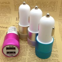 Atacado DUAL CAR CHARGER USB Car Charger Universal 12 Volt / 1 ~ 2 Amp para Apple iPhone iPad Samsung Galaxy Motorola LG carregadores de carro