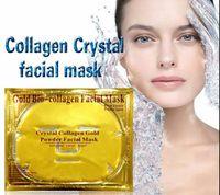 biyolojik nemlendirici kollajen maske toptan satış-Stokta Altın Biyo-Kolajen Yüz Maskesi Yüz Maskesi Kristal Altın Tozu Nemlendirici Anti-aging Kollajen Yüz Maskesi Ücretsiz DHL FedEx DHL