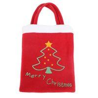 itens de doces venda por atacado-Sacos de presente de Natal adereços ornamentos Sacos Xmas Presentes vestidos Produtos de Natal decorações doces presente Sack Bags, 2 Items to choose