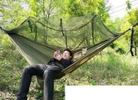 ingrosso rete per letti esterni-Tenda per alberi 2 persone facile portare l'amaca automatica apertura rapida tenda con letto reti estate all'aperto aria tende spedizione veloce