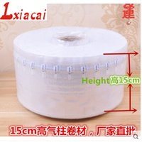 Wholesale cm m Column bubble bag coil diaphragm material e air bag inflatable packaging materials shockproof buffer bag