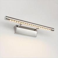 luces de vanidad baño al por mayor-lámpara de espejo led tocador de baño luces con apliques de pared interruptor baño iluminación arriba abajo lámparas de interior 5w / 7w / 9w / 15w