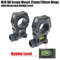 Wholesale Tactical M10 QD Rifle Scope Mount mm mm Diameter Rings with Integrated Bubble Level Fit Weaver Picatinny Rail Black