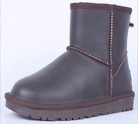 Wholesale Ladies Leather Boots Size 11 - Hot Selling Winter Brown Snow Boots Women Warm Short Ankle Boot Ladies Fashion Wateroroof Plush Leisure Leather Shoes Plus Size 11 12