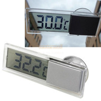 Wholesale Car Rear Windscreen Mirror - Thermometers Suction On Car Windscreen Or Auto Rear View Mirror Digital Display Thermometer
