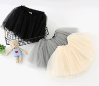 Wholesale wholesale tutus for little girls - Kids Clothing Girls TUTU Princess Skirts Black White Pink Infant Toddler Baby Pettiskirt Petticoat For Little Girls Sale