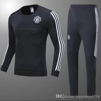 Wholesale U Shorts - 2017 Survetement football MAN u tracksuit LUKAKU 17 18 training suit kits Soccer Chandal MATA training POGBA tight pants sweater shirt