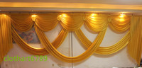 Wholesale 6m wide swags of backdrop valance wedding stylist backdrop swags Party Curtain Celebration Stage Performance Background Satin Drape wall
