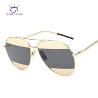 óculos de sol da faculdade da rainha venda por atacado-Atacado-Queen College Óculos De Sol Mulheres Designer De Marca Do Vintage Óculos De Sol Das Senhoras Decoração Clássico Eyewear Com Caixa UV400 QC0381