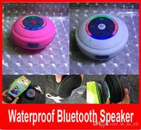 führte wasserdichtes duschlicht großhandel-Bunter LED-wasserdichter Lautsprecher-drahtloser Bluetooth Lautsprecher mit LED-Licht Dusche-Auto-Freisprecheinrichtung empfangen Anruf-Saug-Mic für iPhone.