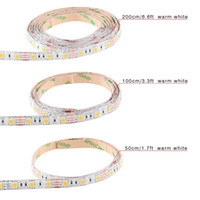 Wholesale Cable Stripping Yellow - SMD3528 SMD5050 USB Cable 5V LED Christmas stripe light lamp 50cm 100cm 200cm 30LEDs Flexible Strip Light TV Background Lighting Kit