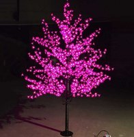 Wholesale Led Artificial Tree Wholesale - Luxury Handmade Artificial LED Cherry Blossom Tree night Light Christmas new year wedding Decoration Lights 1.8m tree light led LLFA
