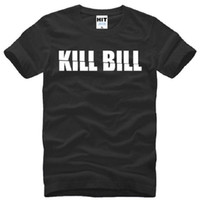Wholesale Kill Bill - New Designer Fashion Kill Bill T Shirt Men Summer Short Sleeve Cotton Letter Print T Shirts Men Kill Bill T-shirts Tops Tees Man Clothing