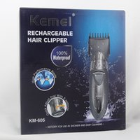 Wholesale Rechargeable Men s Hair clippers Trimmer Waterproof Adjustable Electric Hair Clipper Beard Shaver styling tools V