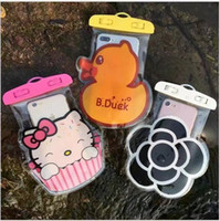 Wholesale Drying Clips - Cartoon Thin Diving phone waterproof bag clip swimming Soft PVC case underwater photograph diving Pouch Dry