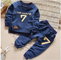 Wholesale Baby Boy Size 12 Months - Plus Size Toddler Kids Baby Boy Girls Sweatshirt+Pants Sport Tracksuits Outfit Clothes Set