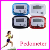 Wholesale Keep fit Multifunction LCD Pedometer Walking Distance Step Counter Run Walk Walking Calorie Passometer Counters Calorie Monitor