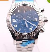 Wholesale Auto Stores - DHgate hot sale top store jason668 luxury brand watches men BLACK DIAL SS watch avenger seawolf chrono quartz sports watch men dress watches