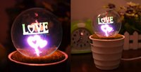 Wholesale Egg Plant - Potted plants night lights 250G pcs Couple fireworks night light Romantic 220v Shade Material Plastic