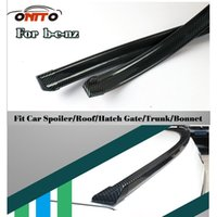 Wholesale Amg Spoiler - Tail boot trunk car 1.5M Car decorative strips Carbon Fiber PU Car Rear Roof Spoiler Wing Lip Stickers Kit For 1.5M protection auto Spoiler