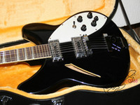 Wholesale China Guitars For Sale - NEW Black 360 6 Strings Electric Guitar OEM Guitar guitars from china For Sale