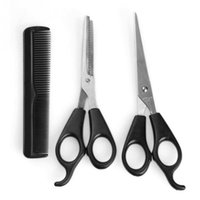 Wholesale Hair Dressing Scissors Set - Wholesale-Professional Hair Dressing Scissors 3pcs Barber Tool Hair Scissor Comb Set Cutting Thinning Hairdressing Shears