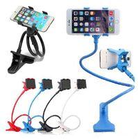 langarm-auto telefonhalter großhandel-360 drehbare Handyhalter lange Arm stehen faul Bett Desktop Tablet Auto Selfie Halterung für iPhone Smasung HTC etc.