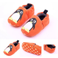 Wholesale Baby Boy Size 12 Months - New Baby Walking Shoes Cute Orange Penguin Warm Cotton Fabric Cartoon Girl and Boy Non-slip 0-18 Months
