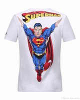 Wholesale Coats For Short Men - Designer Polo t-shirts for men Superman & Diamond 3D Printed t shirts Homme Short Sleeve Tee Shirts Mens Coat Jacket