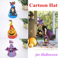 Wholesale Different Models - Halloween cartoon caps Prop Witch hat Cosplay Costume party Supplies Kids gifts 4 different models with opp bag DHL fast shipping