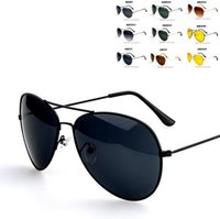 Wholesale Gold Mirrored Aviator Sunglasses - Wholesale-New 4 Colors Cool Women's Men's Classic Aviator Silver Mirrored Lens Brown Gold Black Sunglasses
