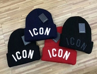 Wholesale High Quality Knit Hats - wholesale high quality embroidery ICON winter beanies brand hat warm knitted warm hat cap for women men